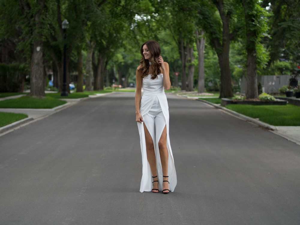 Asos split leg jumpsuit dallas blogger
